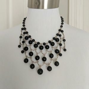 Target faux onyx beaded statement necklace